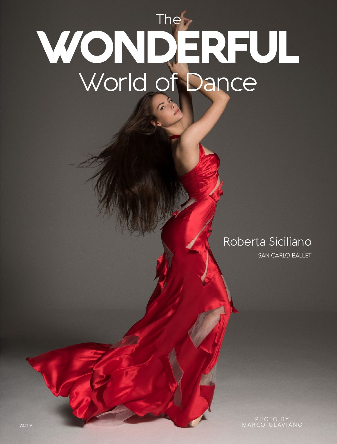 The Wonderful World of Dance Magazine Act 5 Cover Star Roberta Siciliano